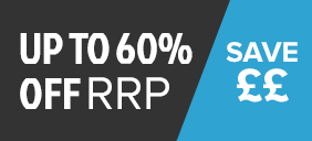 Up to 60% off RRP